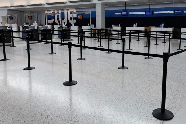 Belt Stanchion Queue Post Rentals For Airport Ticketing Lines