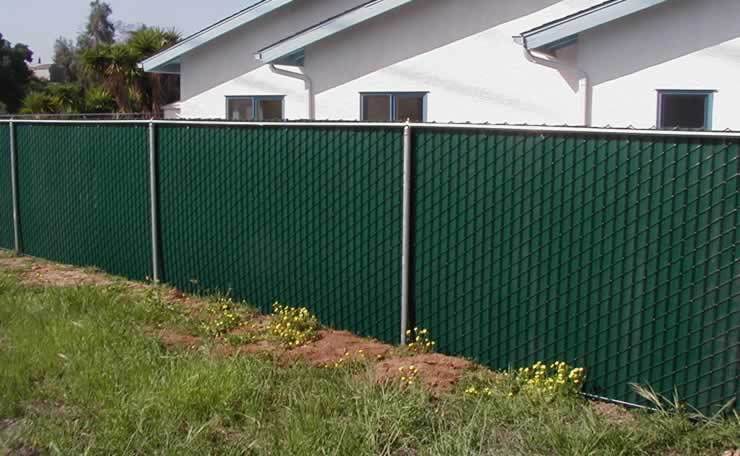 Windscreen Covering Chain Link Fence