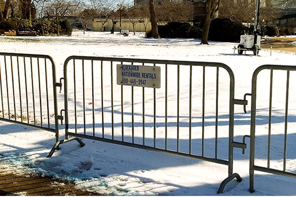 Steel Barrier Military Rentals