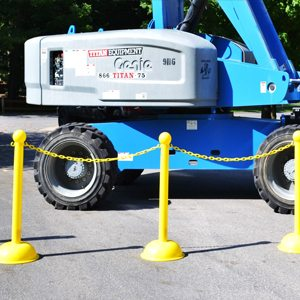 Rent Plastic Chain And Stanchions Nationwide From Ally Rental