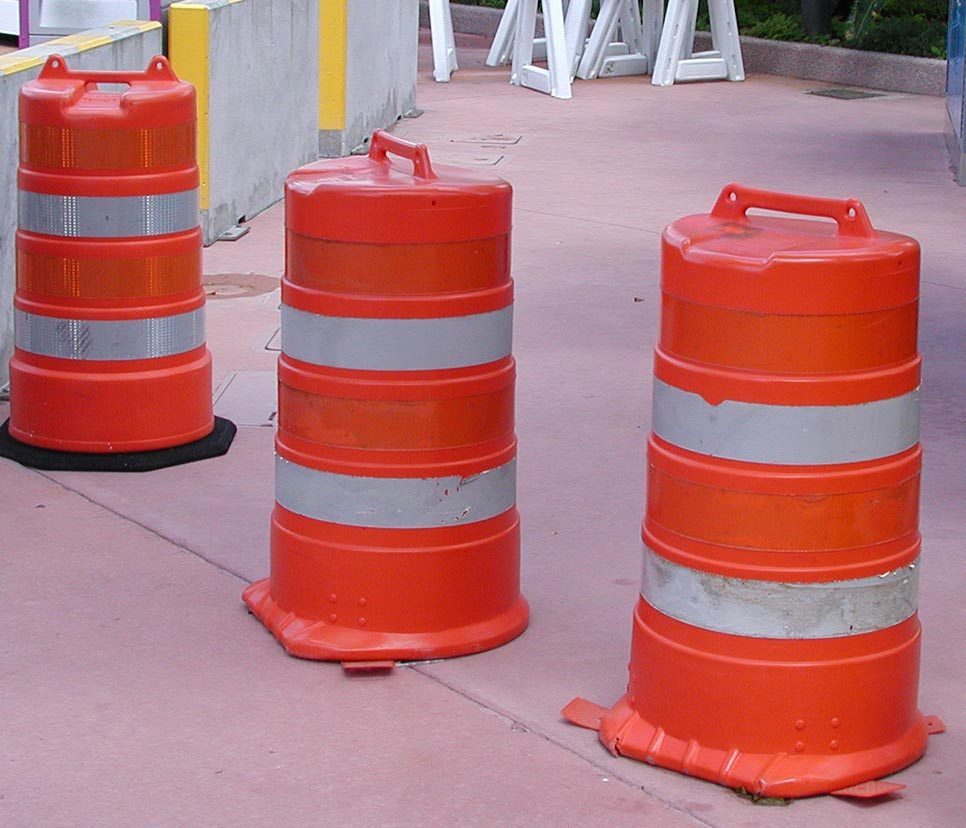 Rent Traffic Barrels From Ally Rental - Your Source For Nationwide Traffic Safety Rentals